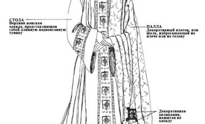 Женский костюм Византии