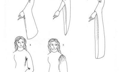 Варианты кроя рукавов для женского костюма 12 века