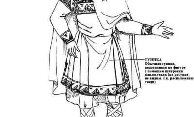 Мужской костюм 11 века