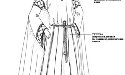 Мужской костюм 12 века
