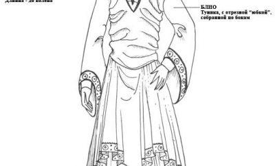 И ещё мужской костюм 12 века