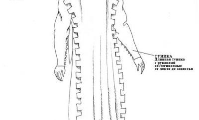 Мужской костюм 14 века +Варианты отделки краев одежды (14 в.)