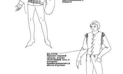 Мужской костюм 14 века
