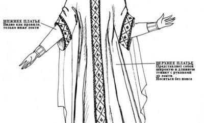 Женский костюм в романском стиле
