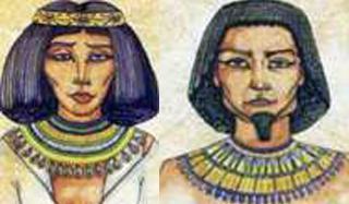 Древний Египет Прически украшения косметика Железный век egip 003 jpg