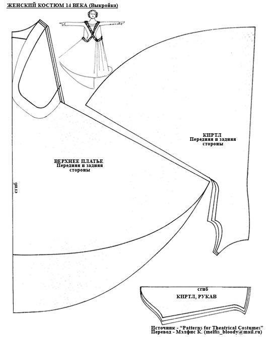 Ещё один женский костюм 14 века