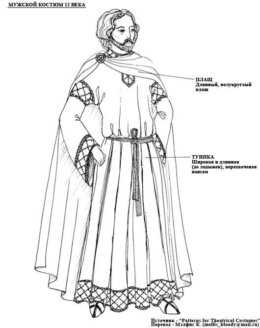средневековья костюм мужской картинки