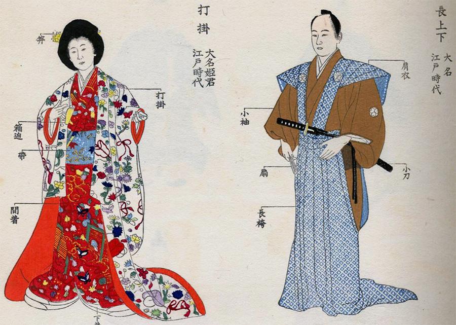 Японская традиционная одежда времен господства военной аристократии (сегуната)