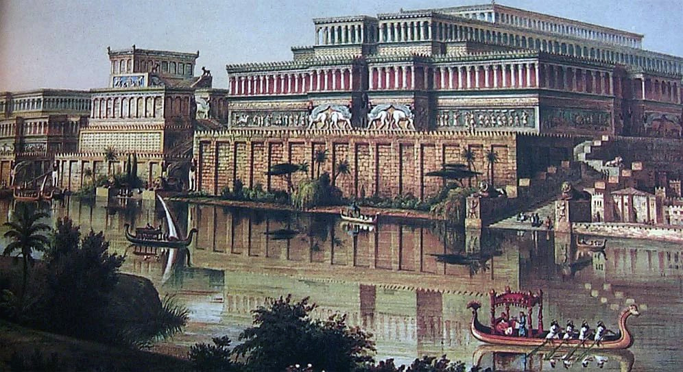 Образец ассирийской архитектуры - царский дворец