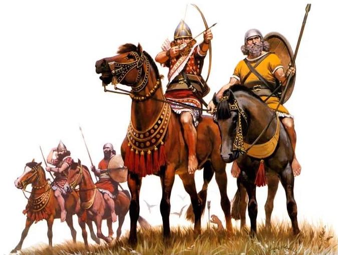 Конные лучники ассирийской империи