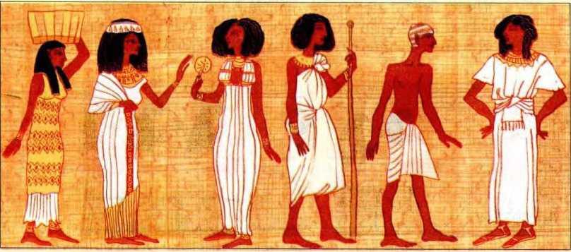 Обычная, повседневная одежда жителей Древнего Египта.
