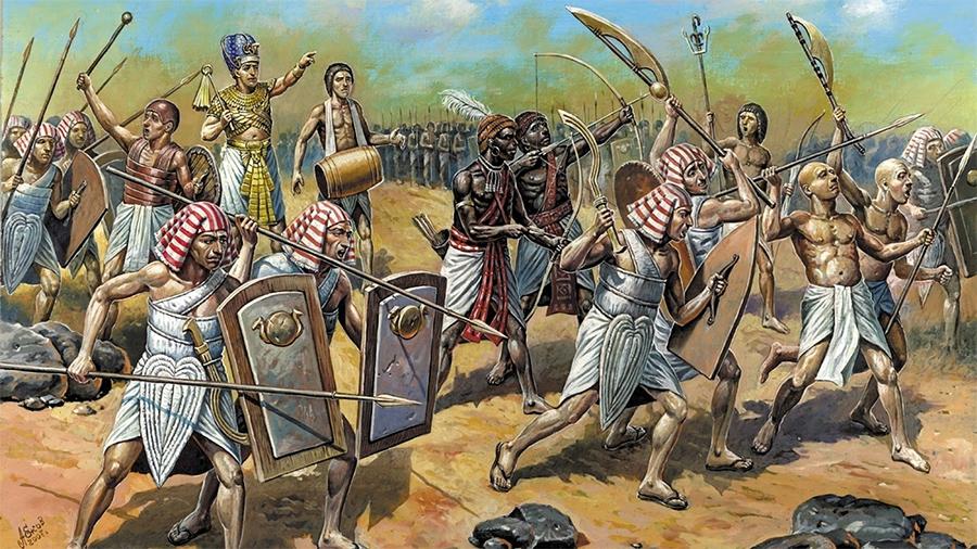 Армия древнего Египта в бою