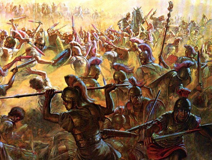 Резня римлян устроенная после окружения армии Теренция Варрона карфагенянами (битва при Каннах, 216 г. до н.э.)