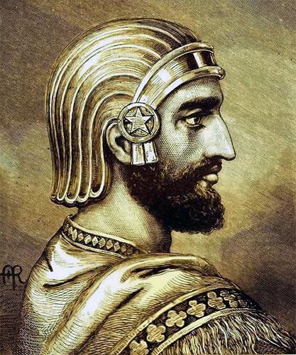 Кир Великий - внук последнего властителя Мидии и по совместительству - завоеватель этой страны