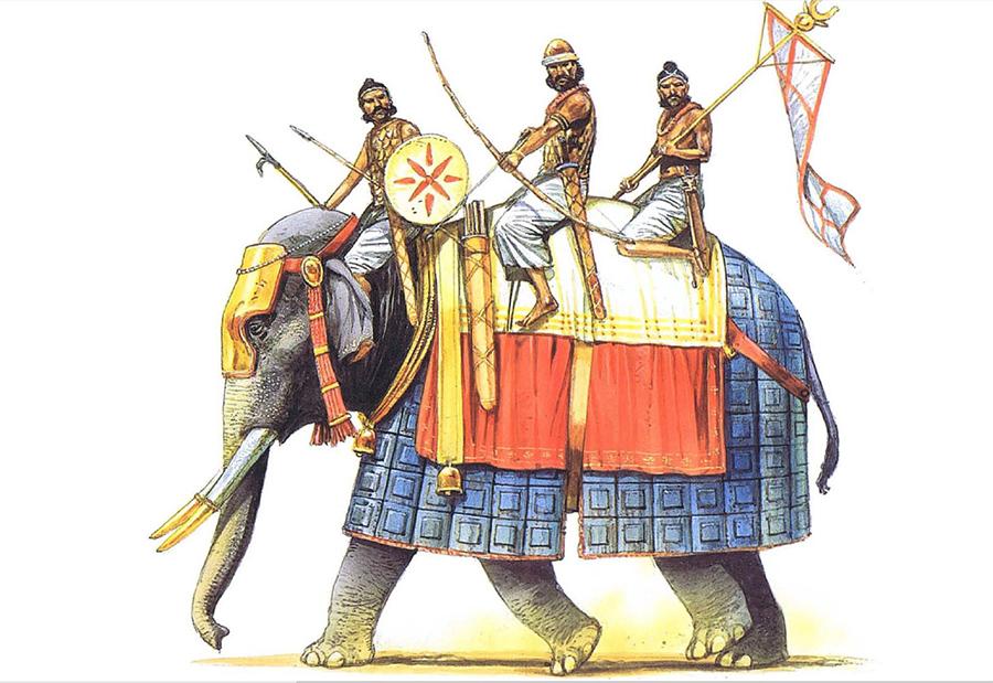 Индийские воины времен империи Маурьев