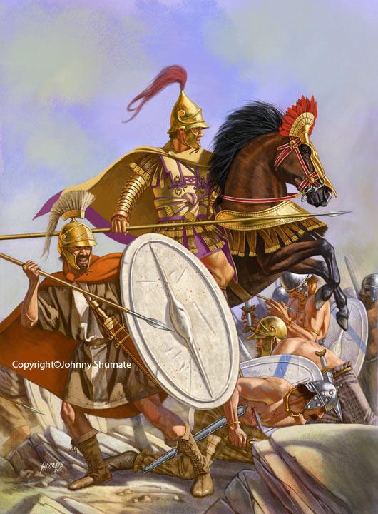 Конный и пеший воины армий одного из диадохов - наследников империи Александра Македонского