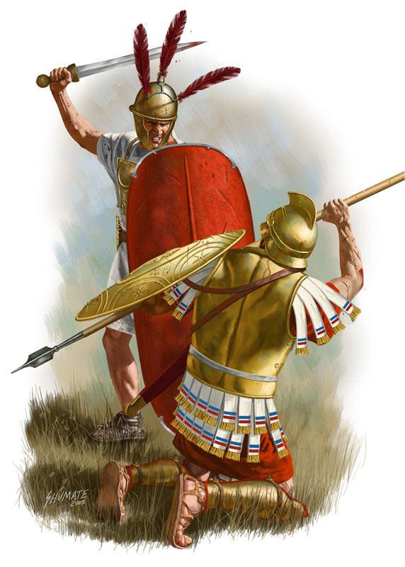 Битва при Пидне в 168 г. до н.э. между римлянами и македонянами