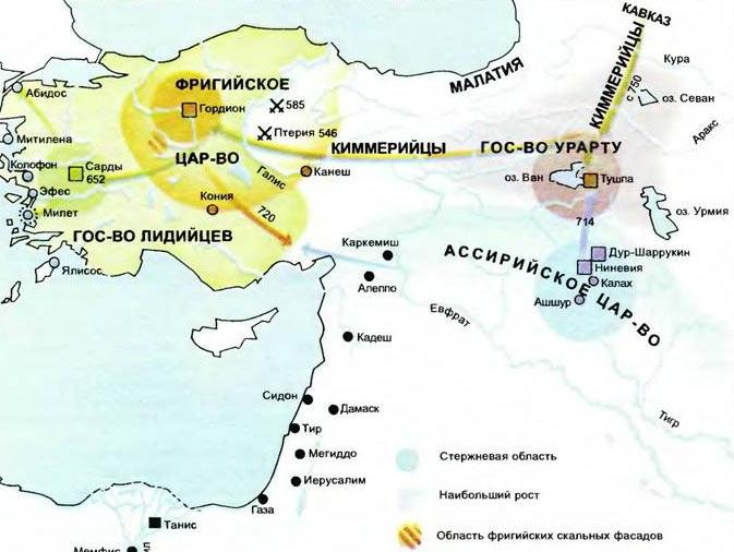 Фригийское царство в Малой Азии