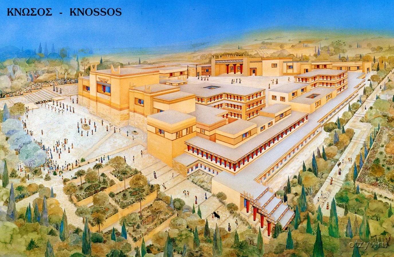 Реконструкция Кносского дворца на Крите. Даже по современным меркам, впечатляющее зрелище