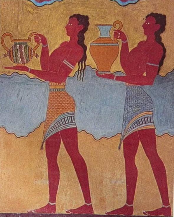 Что древние критяне умели - так это создавать удивительные по красоте фрески. Тут им не было равных.