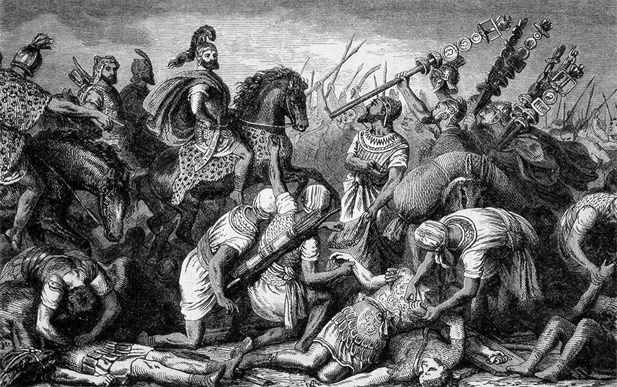 Сбор трофеев после битвы при Каннах (216 г. до н.э.), когда войско Ганнибала разгромило римлян