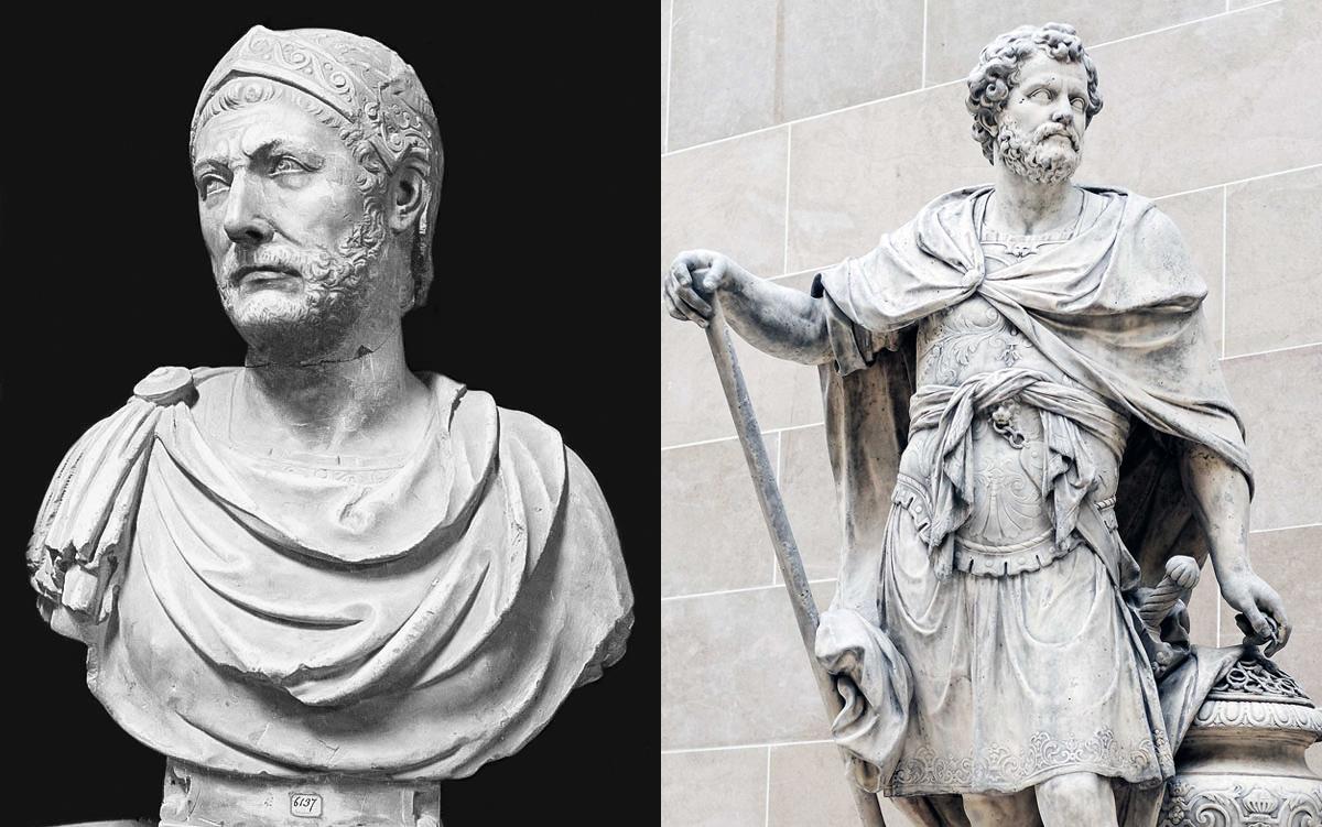 Две статуи Ганнибала Барка - в национальном музее Неаполя, и в Лувре.