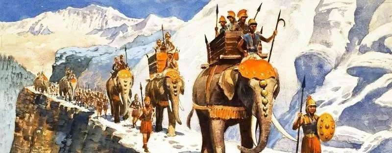 Войско Ганнибала Барка на переходе через Альпы