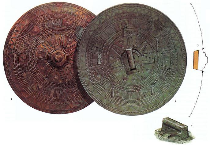 Металлический щит культуры виллановы