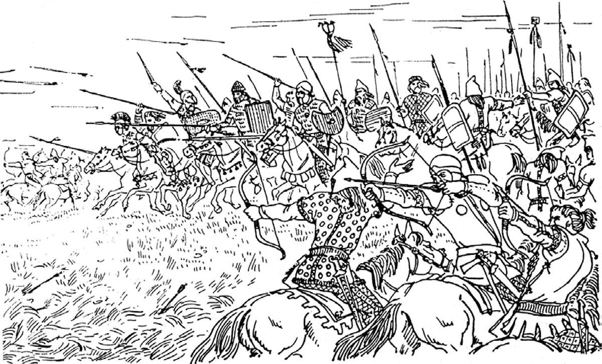 Скифское войско в бою: нашествие на переднюю Азию