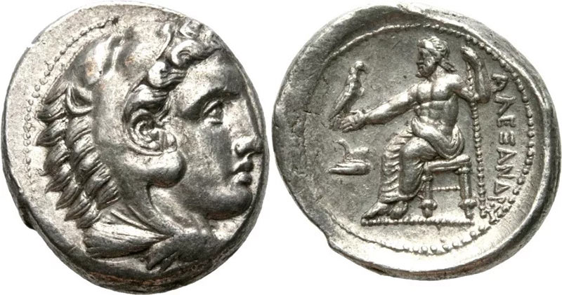 Монета с изображением Александра III Македонского