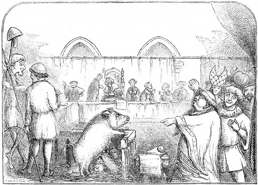 Суды над животными в средневековой Европе