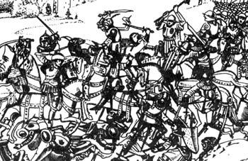 крестоносцы в бою