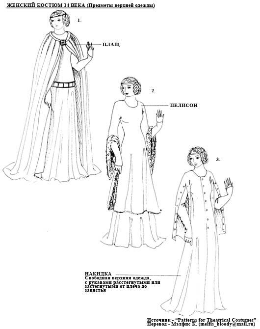 Котарди и предметы верхней одежды (14 век)