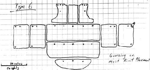 Панцирь из Висби.Схема сборки