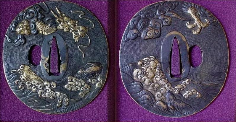 Отличный пример того, что цуба меча изготовленная мастером, может быть настоящим произведением искусства