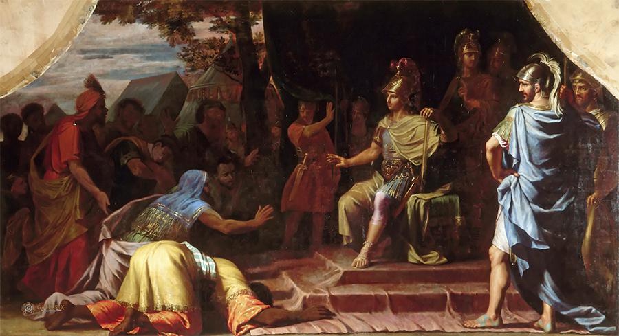 Индийская знать приветствует завоевателя - Александра Македонского