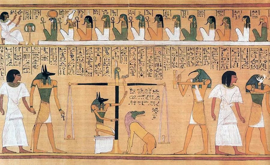 Сцена из «Книги Мертвых» Древнего Египта