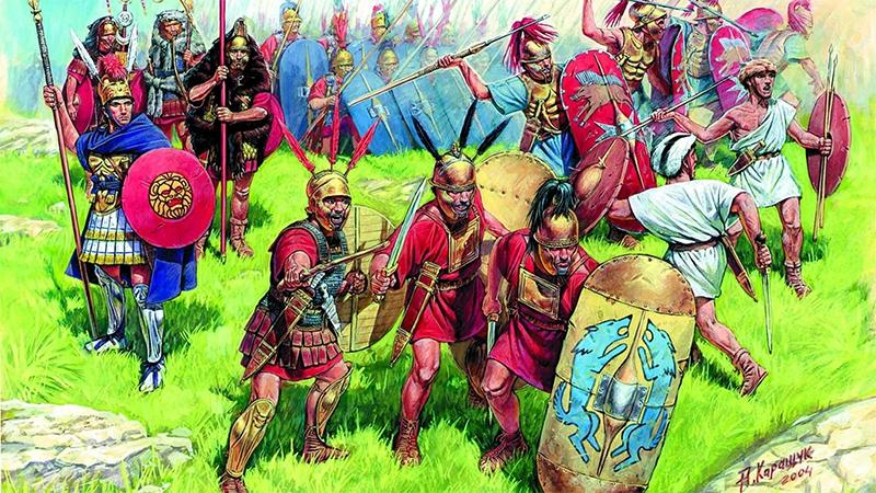 Римская республиканская пехота времен Пунических войн между Карфагеном и Римом