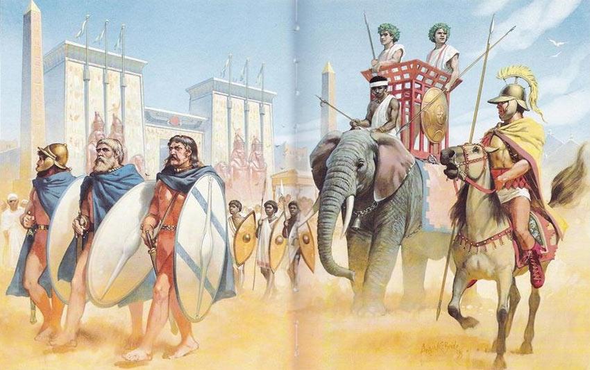 Армия эллинистического Египта была организована на греческий манер