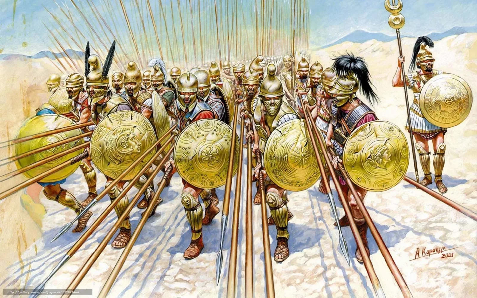 Фаланга - главная ударная мощь армии Александра Македонского