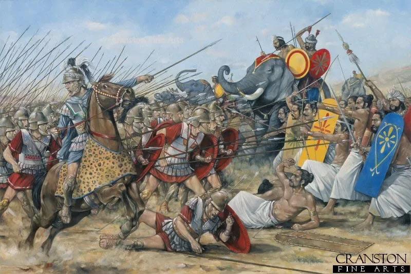 Сражение между македонянами и индийцами