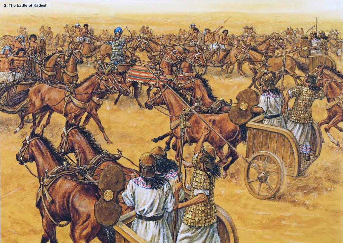 Битва при Кадеше между египтянами и хеттами