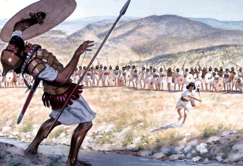 Поединок Давида и Голиафа - дошедшее до нас эхо войны между израильтянами и филистимлянами