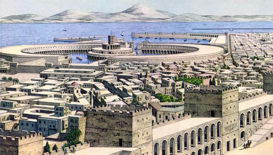 Гавань Карфагена - величайшей из финикийских колоний