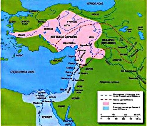 Территория занимаемая хеттским царством