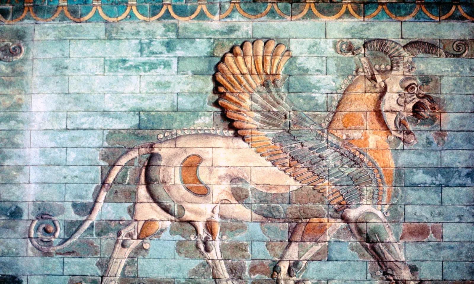 Мозаика в традиционном для Персидской империи стиле