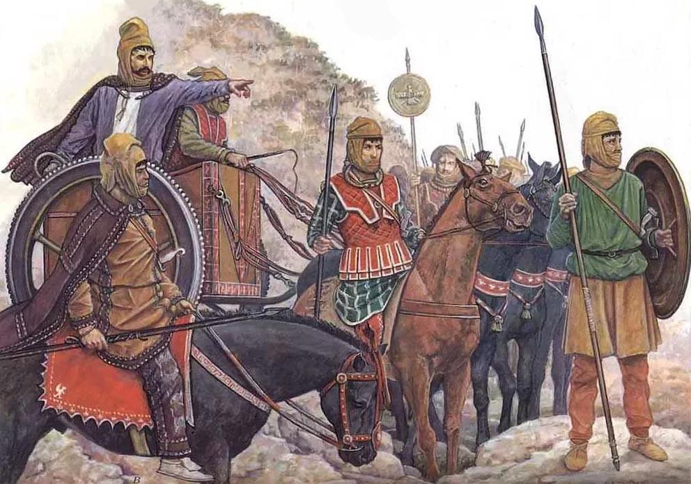 Персидский царь Дарий III дает указания воинам накануне битвы при Иссе
