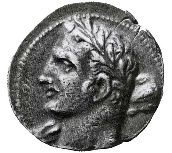Единственное прижизненное изображение Ганнибала Барка - вот эта монета