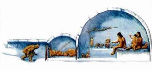 Более точное изображение снежного дома эскимосов (иглу)