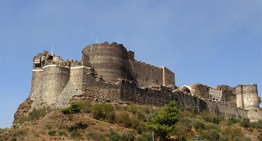 Руины крепости Маргат в Палестине, ранее принадлежавшей рыцарям-госпитальерам